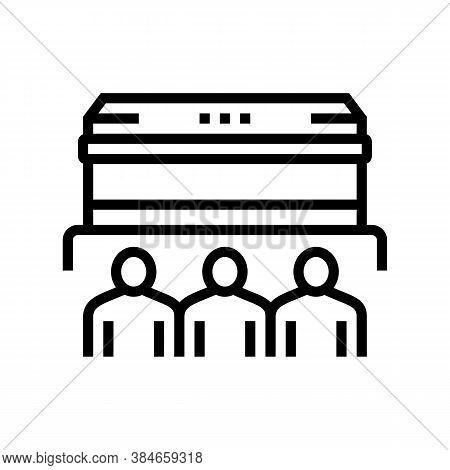 Funeral Commemoration Line Icon Vector. Funeral Commemoration Sign. Isolated Contour Symbol Black Il