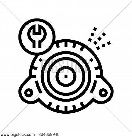 Generator Repair Line Icon Vector. Generator Repair Sign. Isolated Contour Symbol Black Illustration