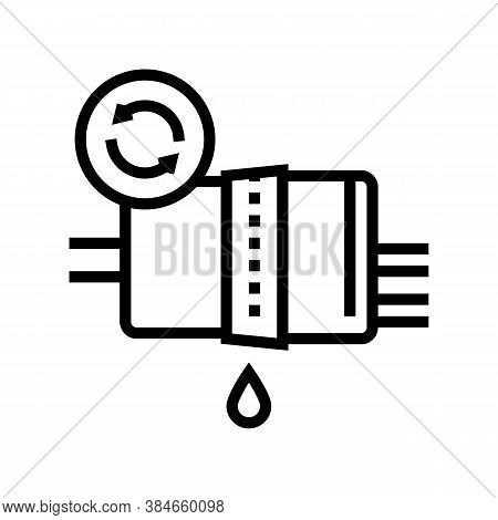 Fuel Filter Replacement Line Icon Vector. Fuel Filter Replacement Sign. Isolated Contour Symbol Blac