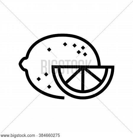 Citrus Aromatherapy Line Icon Vector. Citrus Aromatherapy Sign. Isolated Contour Symbol Black Illust