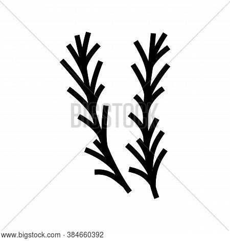 Rosemary Aromatherapy Line Icon Vector. Rosemary Aromatherapy Sign. Isolated Contour Symbol Black Il