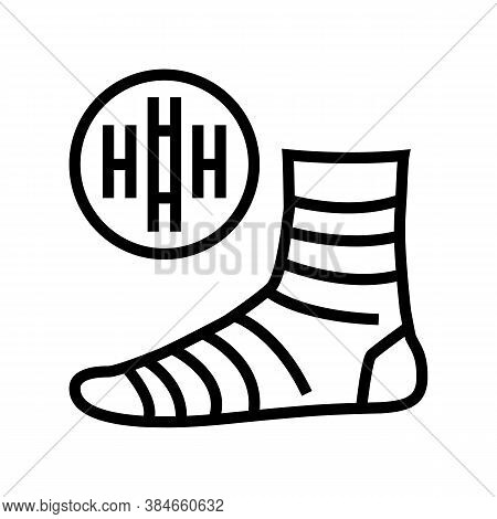 Bamboo Material Sock Line Icon Vector. Bamboo Material Sock Sign. Isolated Contour Symbol Black Illu