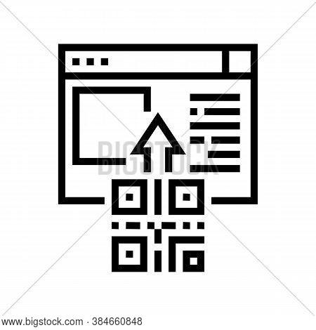 Qr Code Internet Web Site Line Icon Vector. Qr Code Internet Web Site Sign. Isolated Contour Symbol