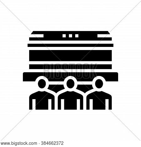 Funeral Commemoration Glyph Icon Vector. Funeral Commemoration Sign. Isolated Contour Symbol Black I