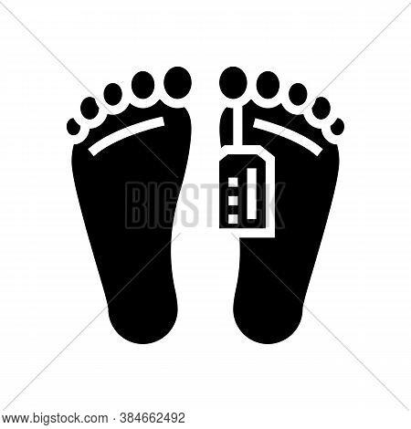 Dead Human In Morgue Glyph Icon Vector. Dead Human In Morgue Sign. Isolated Contour Symbol Black Ill