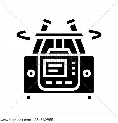 Laboratory Centrifuge Glyph Icon Vector. Laboratory Centrifuge Sign. Isolated Contour Symbol Black I