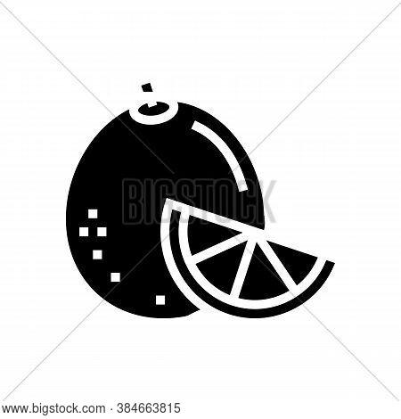 Orange Aromatherapy Glyph Icon Vector. Orange Aromatherapy Sign. Isolated Contour Symbol Black Illus
