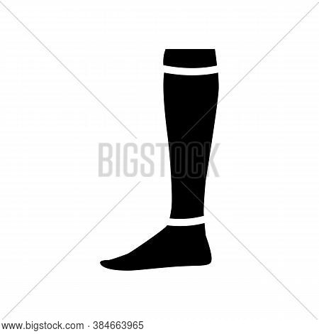 Loose Sock Glyph Icon Vector. Loose Sock Sign. Isolated Contour Symbol Black Illustration