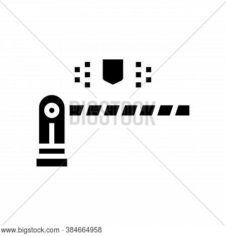 Road Barrier Glyph Icon Vector. Road Barrier Sign. Isolated Contour Symbol Black Illustration