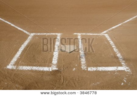 Home Plate And Batters Box