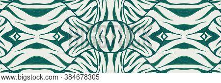Seamless Animal Pattern. Zebra Stripe. Fashion Jungle Fur. Watercolour Africa Background. Color Zoo