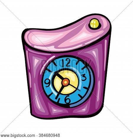 Alarm Clock, Vector Illustration Isolated On A White Background Eps10
