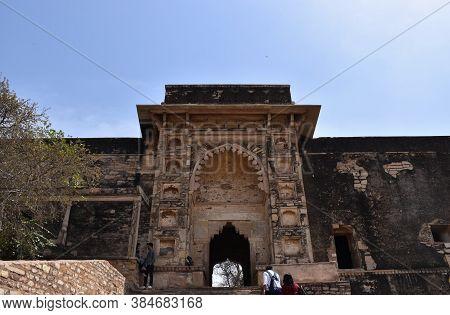 Gwalior, Madhya Pradesh/india : March 15, 2020 - Entrance Gate Of Jahangir Palace In Gwalior Fort