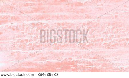 Coral Pink Gradient Patchy Background, Wooden Texture Background. 16 On 9 Format