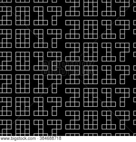 Seamless Surface Pattern Design With 2017 New Year Number. Numbers Background. Mathematical Objects