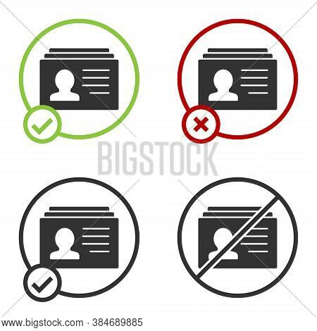Black Resume Icon Isolated On White Background. Cv Application. Searching Professional Staff. Analyz