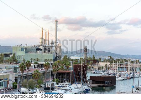 Barcelona, Spain : 2020 02 Sept : Forum Port In The Forum In Barcelona In Summer 2020.