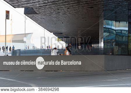 Barcelona, Spain : 2020 02 Sept : Museu De Ciencies Naturals De Barcelona In The Forum In Barcelona