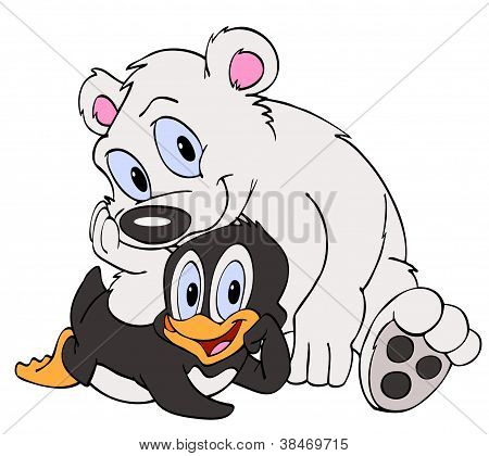 Penguin & Polar Bear Friends