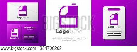 Logotype Canister For Motor Machine Oil Icon Isolated On White Background. Oil Gallon. Oil Change Se