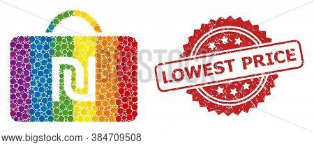 Shekel Case Collage Icon Of Round Items In Variable Sizes And Lgbt Bright Shades, And Lowest Price G
