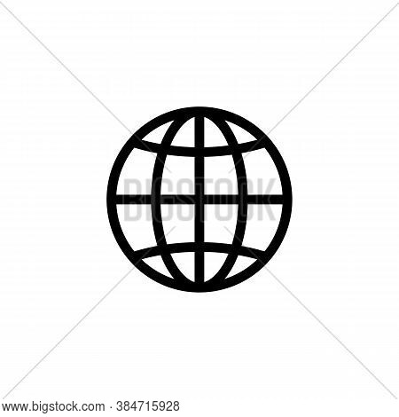 Web Www Vector Icon. Interner Symbol Isolated. Vector Eps10