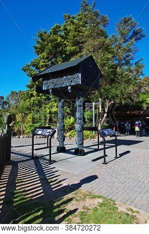 Rotorua / New Zealand - 16 Dec 2018: Thermal Park In Rotorua, New Zealand