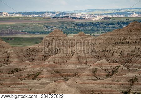The Beautiful White River Valley Overlook In Badlands National Park In South Dakota