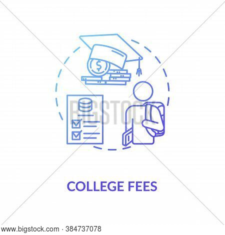 College Fees Concept Icon. Smart Money Educational Options. Cash Saving University Plan. Financial L