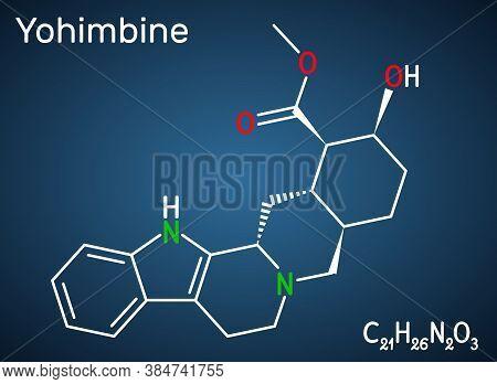 Yohimbine, Yohimbe , Quebrachine Molecule. It Is Aphrodisiac, Plant Alkaloid. Structural Chemical Fo