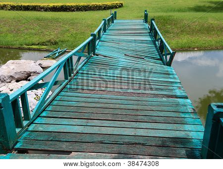Damaged Green Bridge