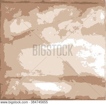 Vintage Grungy Light Background With Crumpled Faded Paper Texture Vector Illustration