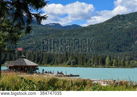 A Picture Of An Aerodrome Beside The Green Lake.  Whistler Bc Canada