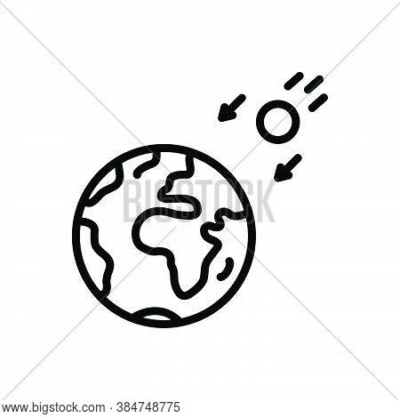Black Line Icon For Intense Acute Rapid Fast Sun Sunlight World Earth