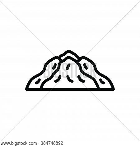 Black Line Icon For Pile Heap Agglomeration Hoard Chunk Hill Mountain Material Condiment
