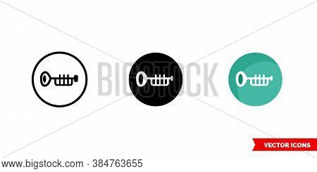 Jazz Music Genre Icon Of 3 Types Color, Black And White, Outline. Isolated Vector Sign Symbol.