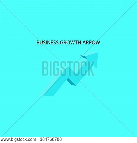 Concept Business Growth Upward Arrow Icon. Vector Illustration Eps 10