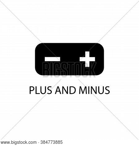 Black Plus And Minus Sign Icon. Vector Illustration Eps 10