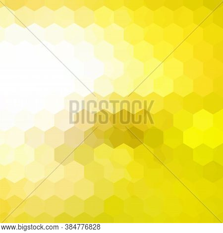 Background Of Yellow, White Geometric Shapes. Mosaic Pattern. Vector Eps 10. Vector Illustration