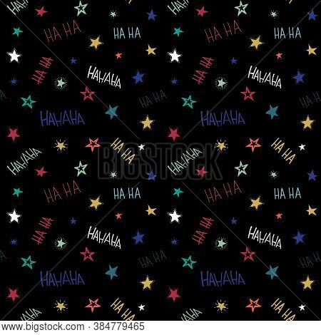 Seamless Patterns For Girl And Guy. Teenage Fashion. Vector Illustration In Doodle Style For Textile