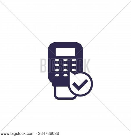 Pos Terminal Payment Icon, Vector, Eps 10 File, Easy To Edit