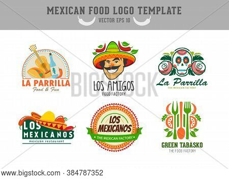 Mexican Food Logo. Vector Logo Design Template