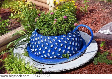 Cup And Saucer Made From Recycled Tires