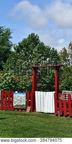 Entrance To Uptown Community Garden