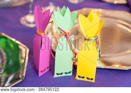 Decorated Boxes, Beautiful Surprise Gifts For The Guests Of The Celebration.