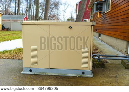 Residential Standby Generator Installed At A Building