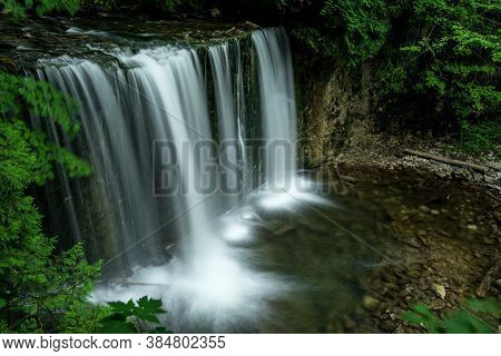 Hoggs Falls Is Another Of The Many Waterfalls Of The Niagara Escarpment. This Is A Small, Secluded A
