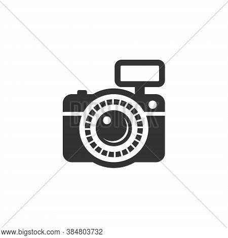 Photo Camera Icon Isolated On White Background. Camera Icon Vector Modern Flat Color. Camera Logo. C