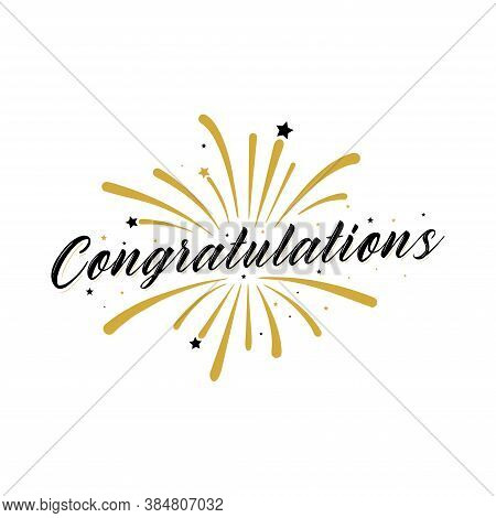 Congratulations Card. Typography, Lettering, Handwritten, Vector For Greeting