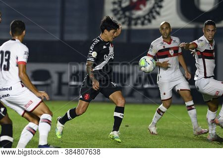 Rio, Brazil - September 10, 2020: German Cano Player In Match Between Vasco 1 And 2 Atletico-go By B